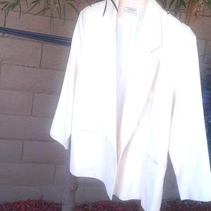 TALBOTS Wool Blazer cream jacket sz 10/12